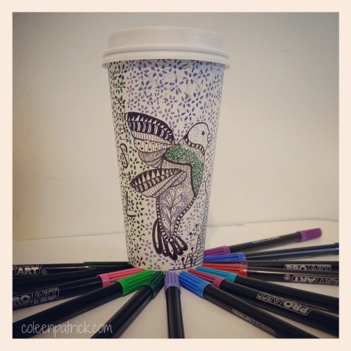 drawing on Starbucks cup