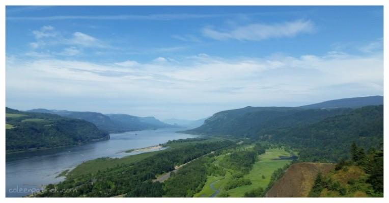 Vista House view Columbia River oregon
