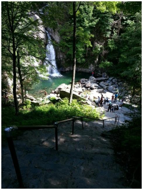 Bash Bish Falls above