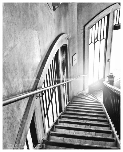 stairs follow the light
