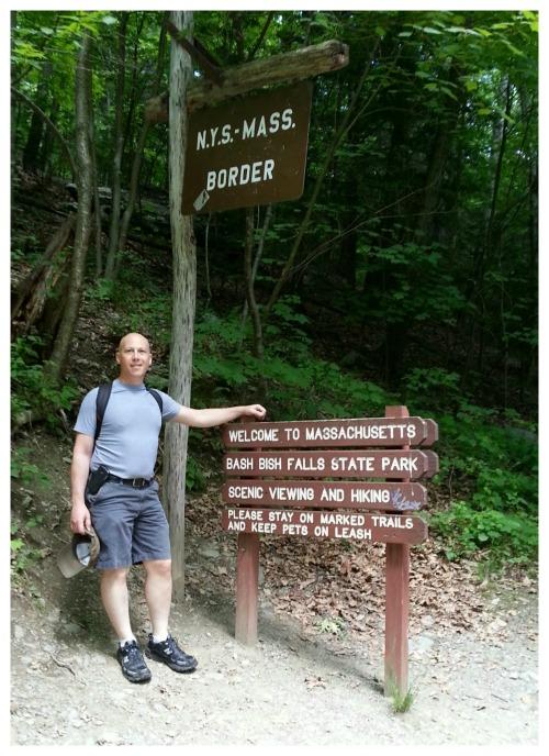 NY MA border Bash Bish Falls park