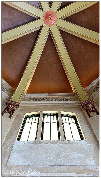 Vista House ceiling oregon