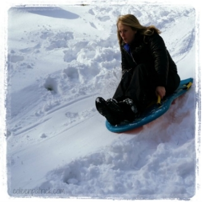 Snow Day Sledding