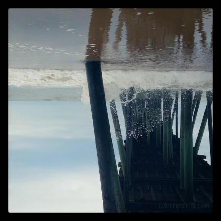 Virginia Beach pier upside down