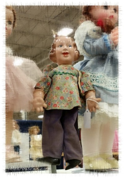 creepy doll flea market