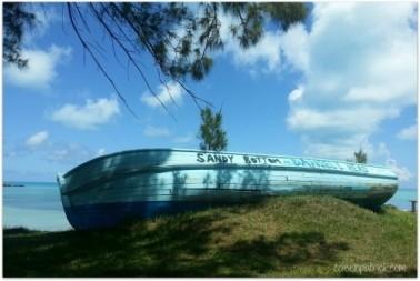 boat daniel's head beach bermuda