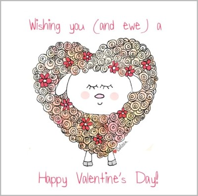 Happy Valentine's ewe doodle coleen patrick