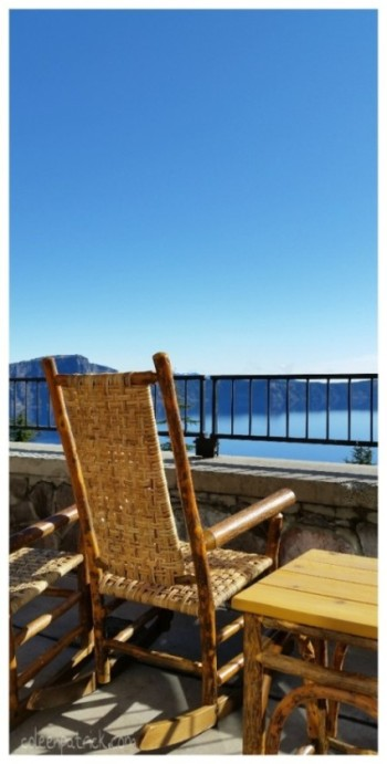 crater lake lodge rocking chair view