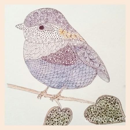bird doodle sketch