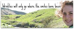 wrinkles go where smiles have been quote_opt