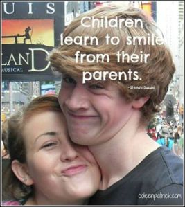 children learn to smile parents